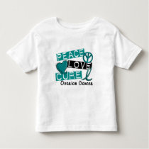 Peace Love Cure Ovarian Cancer Toddler T-shirt