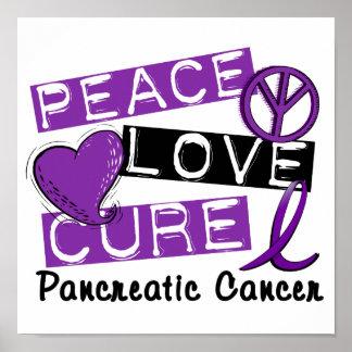 Peace Love Cure Pancreatic Cancer Print