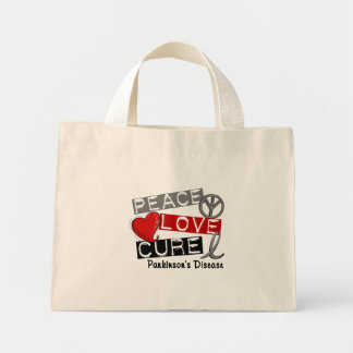 PEACE LOVE CURE PARKINSONS DISEASE MINI TOTE BAG