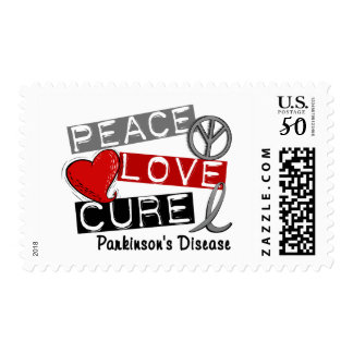 PEACE LOVE CURE PARKINSONS DISEASE POSTAGE
