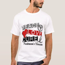 PEACE LOVE CURE PARKINSONS DISEASE T-Shirt