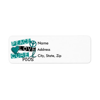 Peace Love Cure PCOS Polycystic Ovarian Syndrome Label