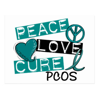Peace Love Cure PCOS Polycystic Ovarian Syndrome Postcard