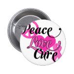 Peace Love Cure Pinback Buttons