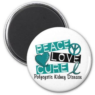 Peace Love Cure PKD Polycystic Kidney Disease Magnet