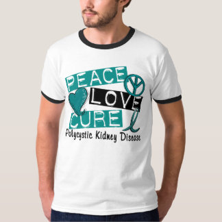 Peace Love Cure PKD Polycystic Kidney Disease Tee Shirt