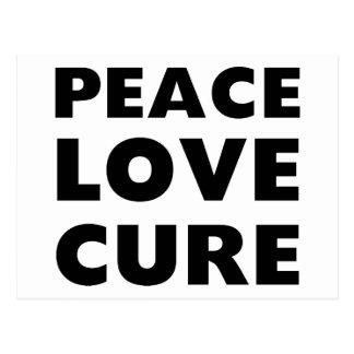 Peace Love Cure Postcard