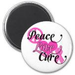 Peace Love Cure Refrigerator Magnet