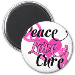 Peace Love Cure Refrigerator Magnets