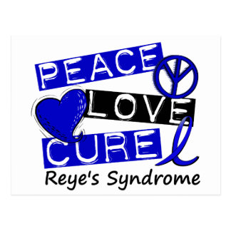 Peace Love Cure Reye's Syndrome Postcard