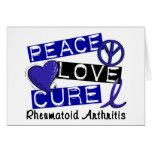 Peace Love Cure Rheumatoid Arthritis RA Greeting Card