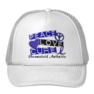 Peace Love Cure Rheumatoid Arthritis RA Hats