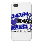 Peace Love Cure Rheumatoid Arthritis RA Cases For iPhone 4