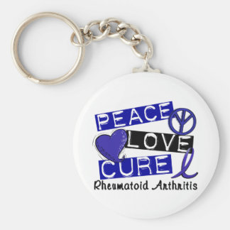 Peace Love Cure Rheumatoid Arthritis RA Key Chains