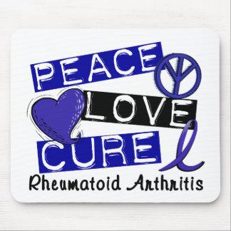Peace Love Cure Rheumatoid Arthritis RA Mouse Pad