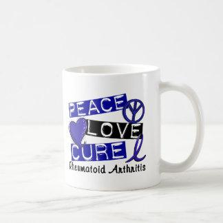 Peace Love Cure Rheumatoid Arthritis RA Classic White Coffee Mug