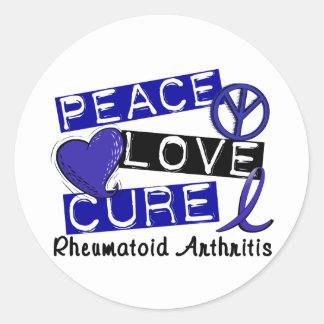Peace Love Cure Rheumatoid Arthritis RA Sticker