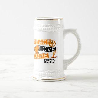 Peace Love Cure RSD Reflex Sympathetic Dystrophy 18 Oz Beer Stein