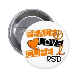 Peace Love Cure RSD Reflex Sympathetic Dystrophy 2 Inch Round Button