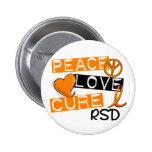Peace Love Cure RSD Reflex Sympathetic Dystrophy Pin