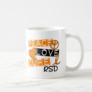 Peace Love Cure RSD Reflex Sympathetic Dystrophy Classic White Coffee Mug