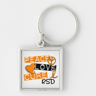 Peace Love Cure RSD Reflex Sympathetic Dystrophy Keychain