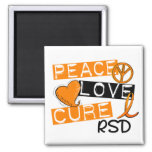 Peace Love Cure RSD Reflex Sympathetic Dystrophy Magnets