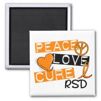 Peace Love Cure RSD Reflex Sympathetic Dystrophy Magnet