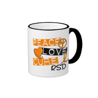 Peace Love Cure RSD Reflex Sympathetic Dystrophy Ringer Coffee Mug