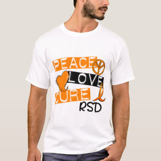 Peace Love Cure RSD Reflex Sympathetic Dystrophy T-Shirt