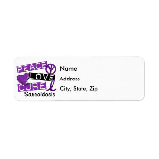 Peace Love Cure Sarcoidosis Label