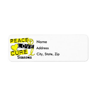 Peace Love Cure Sarcoma Return Address Label