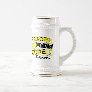 Peace Love Cure Sarcoma Mugs