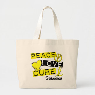PEACE LOVE CURE Sarcoma T-Shirts & Gifts Tote Bags