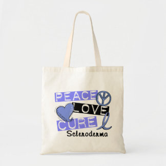Peace Love Cure Scleroderma Canvas Bags