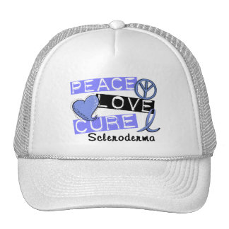 Peace Love Cure Scleroderma Hats