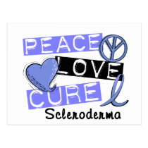 Peace Love Cure Scleroderma Postcard