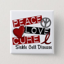 Peace Love Cure Sickle Cell Disease Pinback Button