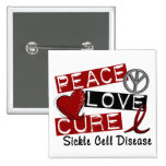 Peace Love Cure Sickle Cell Disease Pins