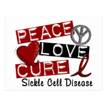 Peace Love Cure Sickle Cell Disease Postcard