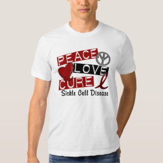 Peace Love Cure Sickle Cell Disease T Shirt