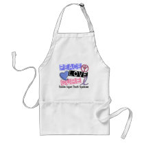 Peace Love Cure SIDS Sudden Infant Death Syndrome Adult Apron