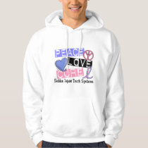 Peace Love Cure SIDS Sudden Infant Death Syndrome Hoodie