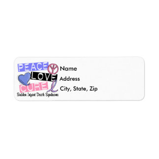 Peace Love Cure SIDS Sudden Infant Death Syndrome Label