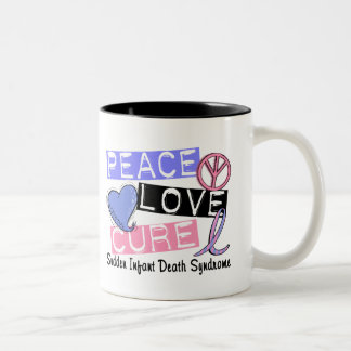 Peace Love Cure SIDS Sudden Infant Death Syndrome Coffee Mugs