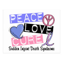Peace Love Cure SIDS Sudden Infant Death Syndrome Postcard
