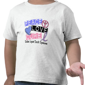 Peace Love Cure SIDS Sudden Infant Death Syndrome Shirt