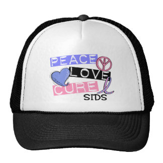 PEACE LOVE CURE SIDS T-Shirts, Gifts, & Apparel Hat