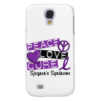 Peace Love Cure Sjogren's Syndrome Galaxy S4 Cover