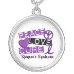 Peace Love Cure Sjogren's Syndrome Custom Necklace